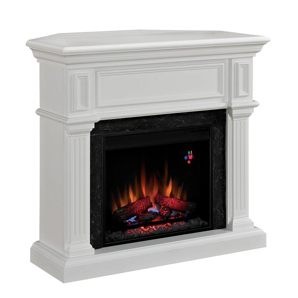 Chimney Free 42 in. Electric Fireplace in White-DISCONTINUED