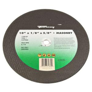 Forney 10 inch x 1/8 inch x 5/8 inch Masonry Type 1 C20R-BF Chop Saw Blade by Forney