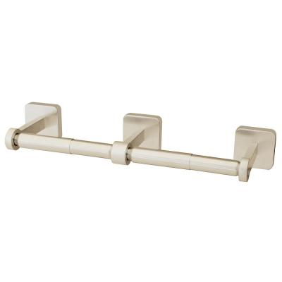 Kubos Double Toilet Paper Holder in Brushed Nickel