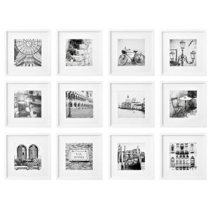 Gallery Perfect 8 in. x 8 in. White Collage Picture Frame Set