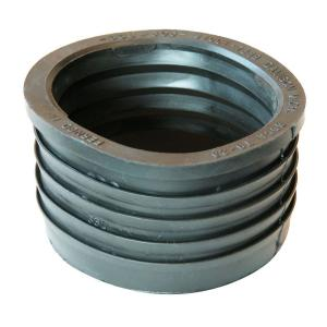 3 inch Service Weight Cast Iron Hub x 3 inch Sch. 40 PVC Compression Donut by