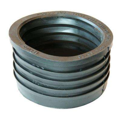 3 in. Service Weight Cast Iron Hub x 3 in. Sch. 40 PVC Compression Donut
