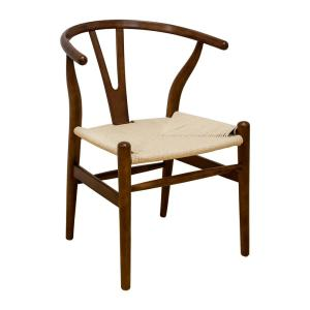 Mid Century Modern W Walnut Dining Side Chair