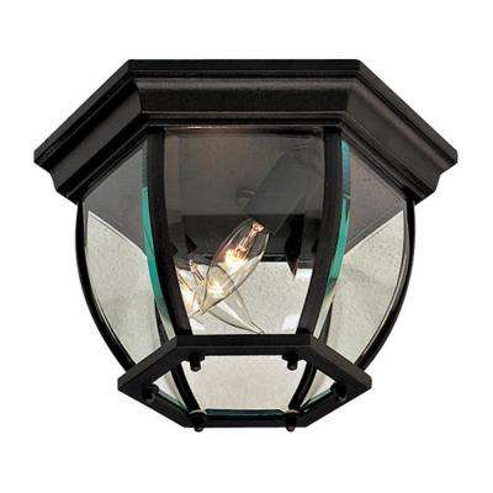 Wyndmere Black 3-Light Outdoor Flush Mount