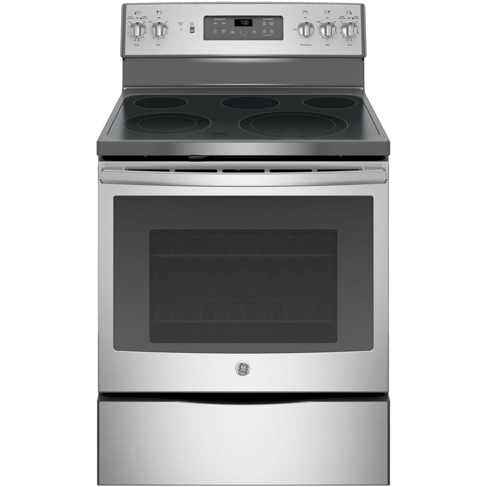 5.3 cu. ft. Electric Range with Self-Cleaning Convection Oven in Stainless