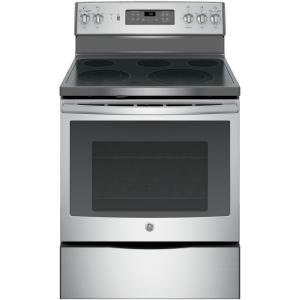 Click here to buy GE 5.3 cu. ft. Electric Range with Self-Cleaning Convection Oven in Stainless Steel by GE.