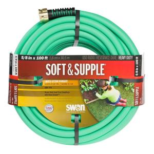 Swan 5/8 inch Dia x 100 ft. Soft and Supple Heavy Duty Water Hose by Swan