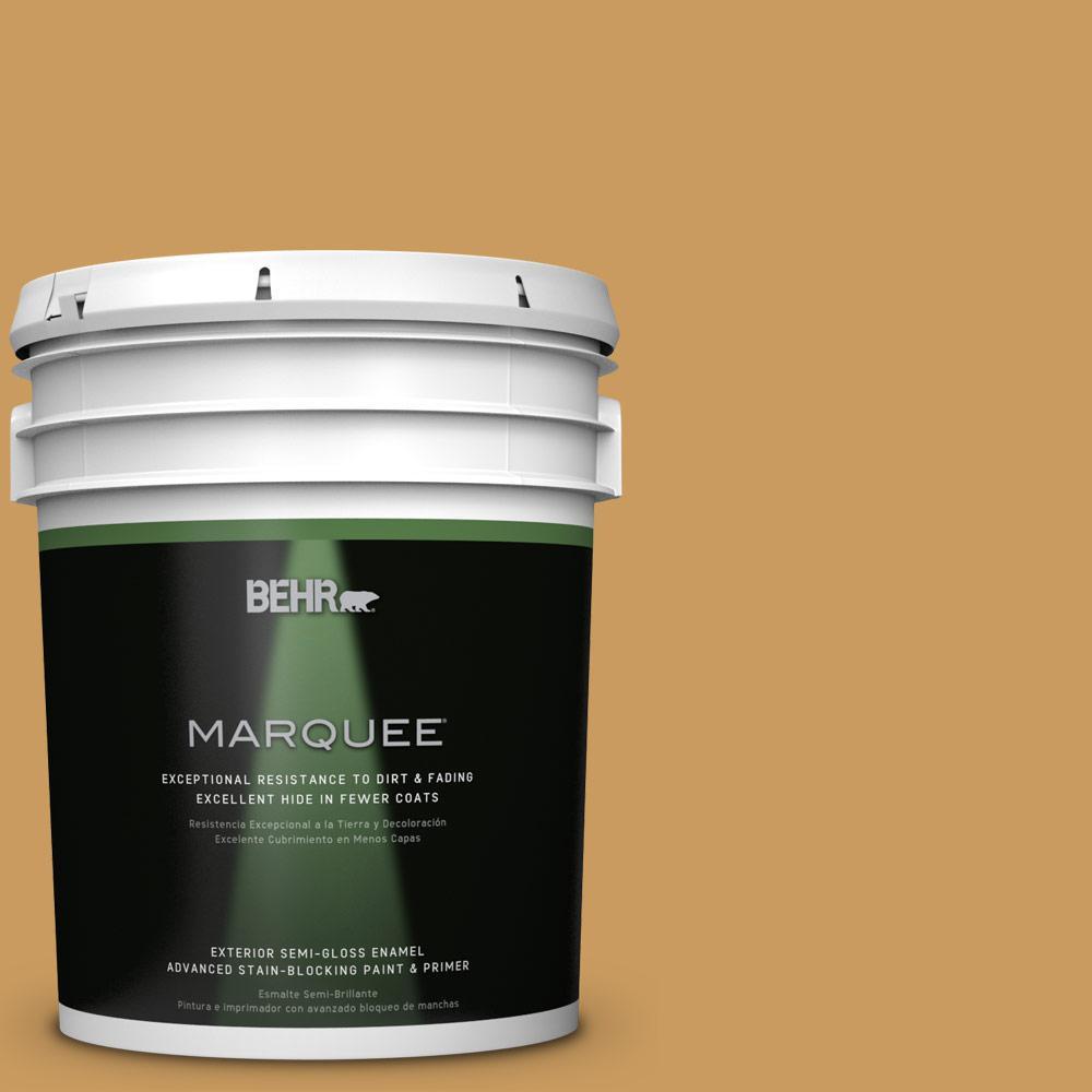 5-gal. #M280-6 Solid Gold Semi-Gloss Enamel Exterior Paint