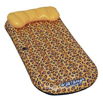 70 in. x 36 in. WildThings Leopard Lounge Pool Float