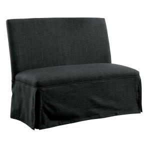 Cowan Dark Gray Upholstered Dining Love Seat