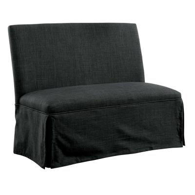 Norwich Dark Gray Upholstered Dining Love Seat
