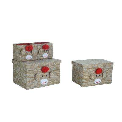 Fabric Bin Set- Monkey