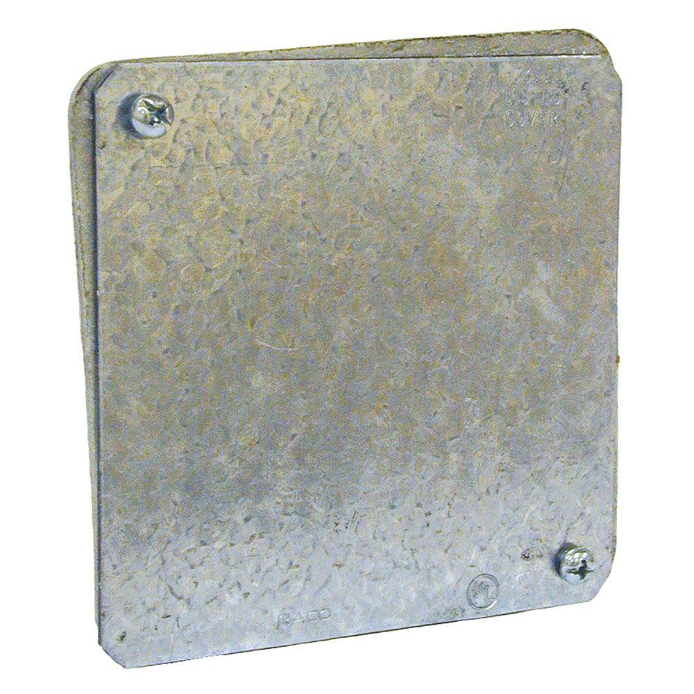 RACO 4 in  Gasketed Flat Blank Plenum Cover (50-Pack)