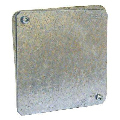 4 in. Gasketed Flat Blank Plenum Cover (50-Pack)