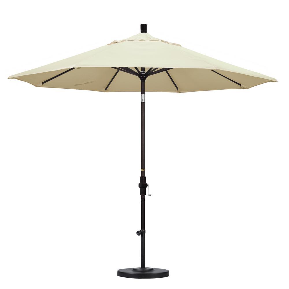 9 ft. Aluminum Collar Tilt Patio Umbrella in Canvas Pacifica