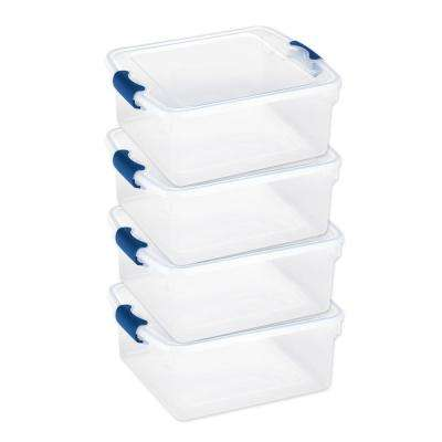 15.5 Qt. Latching Clear Storage Box (4-Pack)