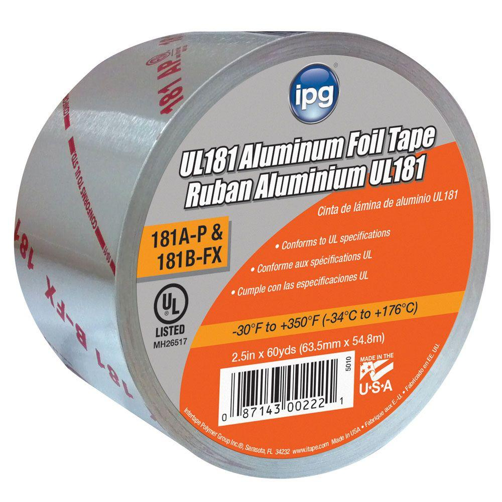 2.5 in. x 60 yds. UL 181AP BFX Code Approved Aluminum
