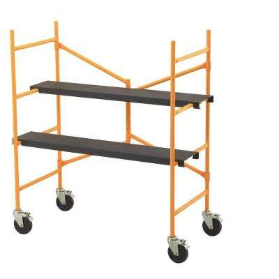 4-2/12 ft. x 3-9/12 ft. x 1-9/12 ft. Roll and Fold Scaffold 500 lb. Load Capacity