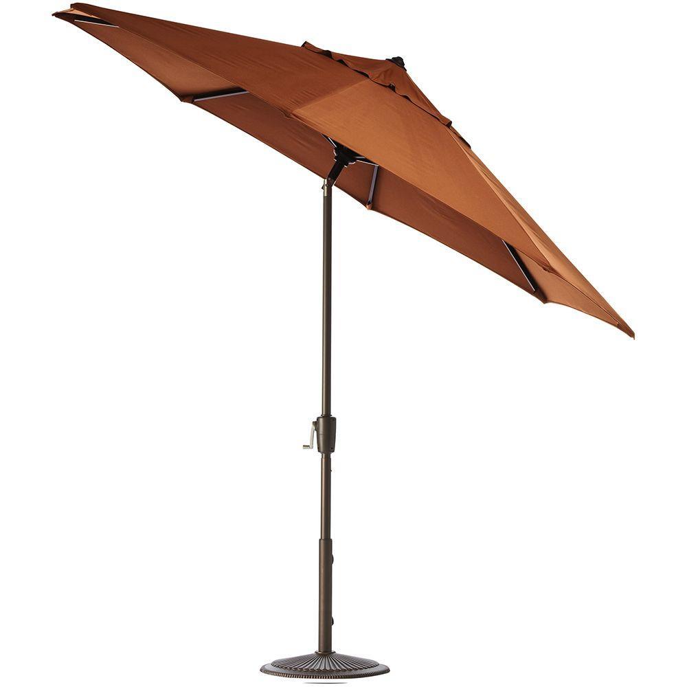Home Decorators Collection 11 Ft Auto Tilt Patio Umbrella