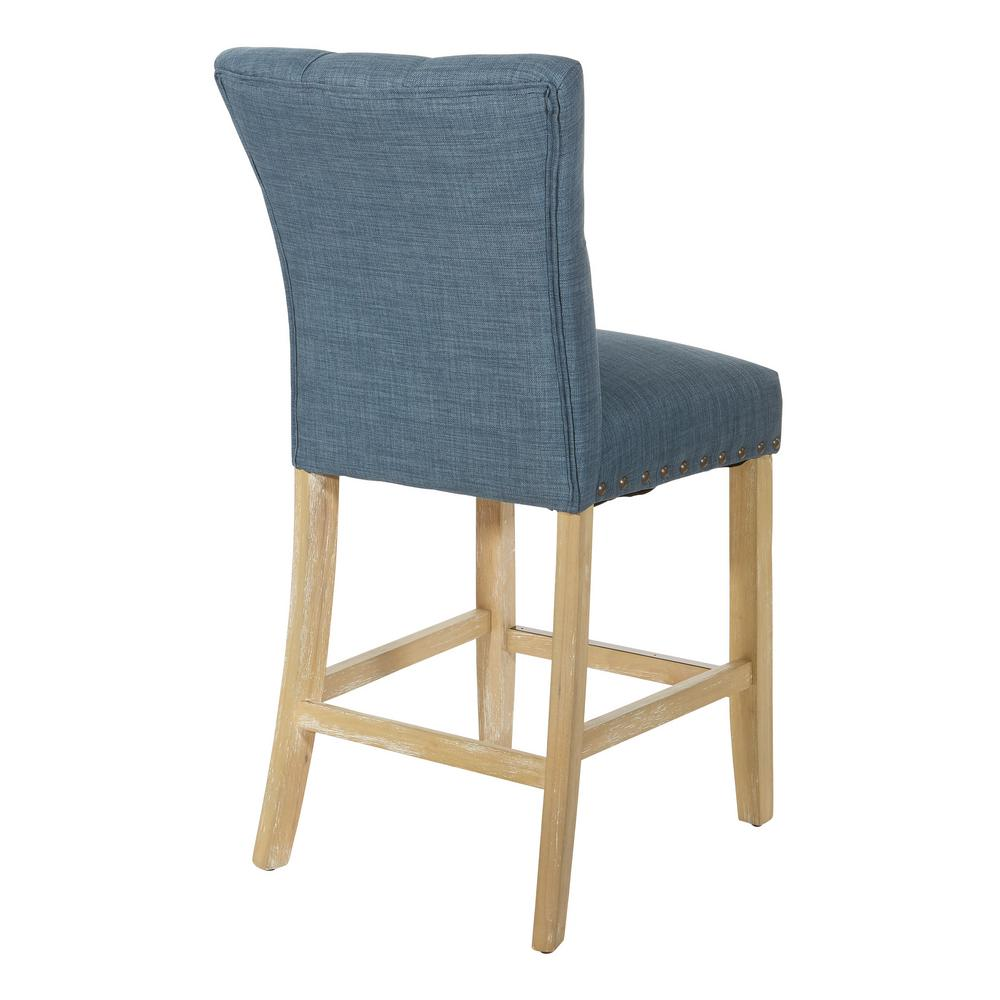 Admirable Osp Home Furnishings 24 In Milford Indigo Fabric With Ibusinesslaw Wood Chair Design Ideas Ibusinesslaworg