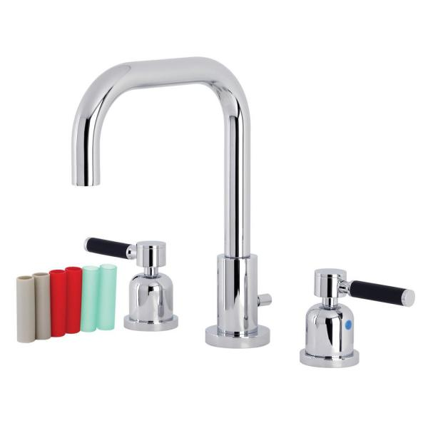 Kingston Brass Kaiser 8 In Widespread 2 Handle Bathroom Faucet In Polished Chrome Hfsc8931ckl The Home Depot