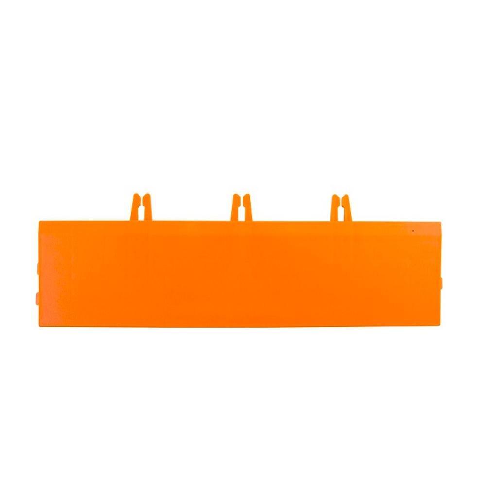 Armadillo Tile Fire Orange 3 in. x 12 in. Polypropylene Interlocking