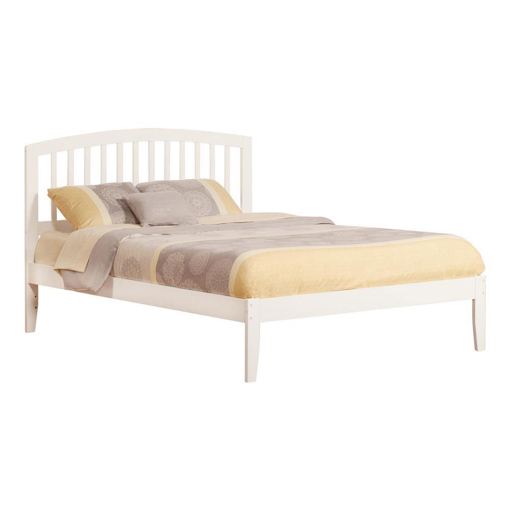 Atlantic Furniture Richmond White Queen Platform Bed with Open Foot ...