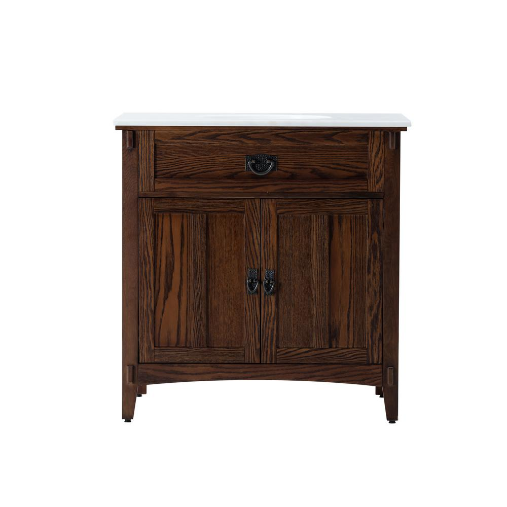 Home Decorators Collection Artisan 33 In. W Vanity In Dark