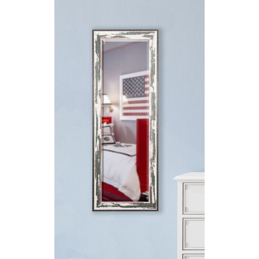 21 in. x 60 in. Rustic Seaside Rounded Beveled Slender Floor Body Mirror