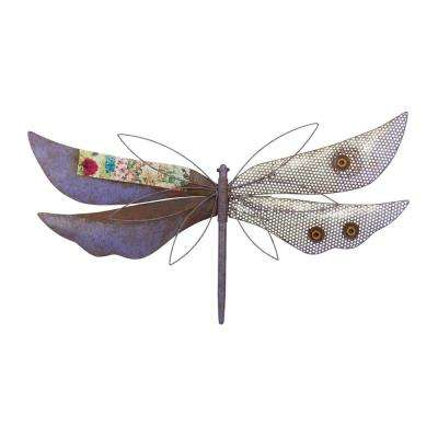 Rustic Wall Decor - Dragonfly Purple