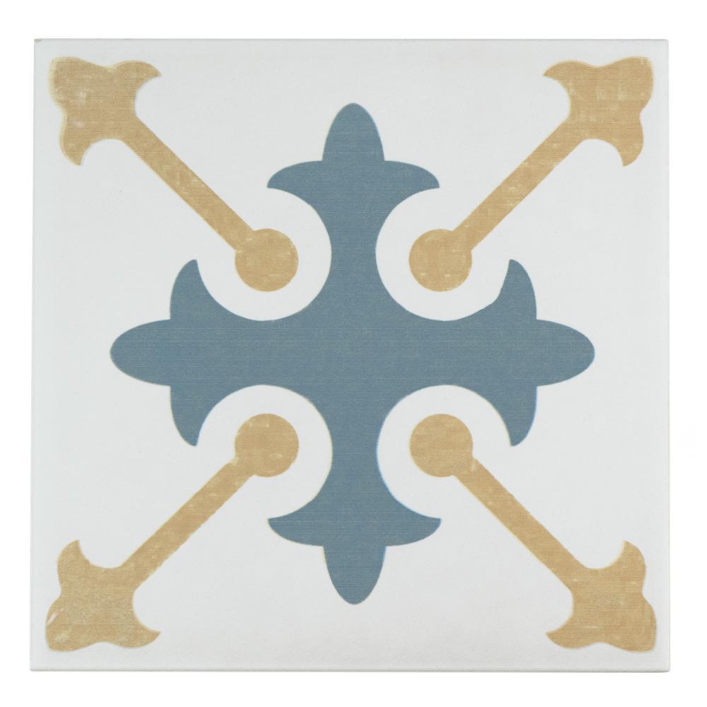 Merola Tile Revival Spectrum Encaustic 7-3/4 in. x 7-3/4 in. Ceramic Floor and Wall Tile