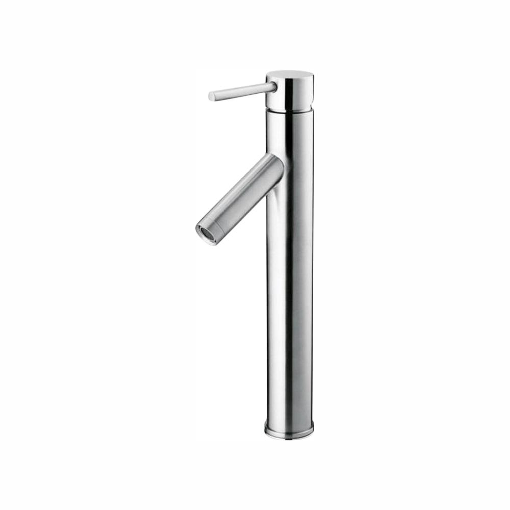 Glacier Bay Single Hole Single-Handle High-Arc Vessel Bathroom Faucet in  Polished Chrome