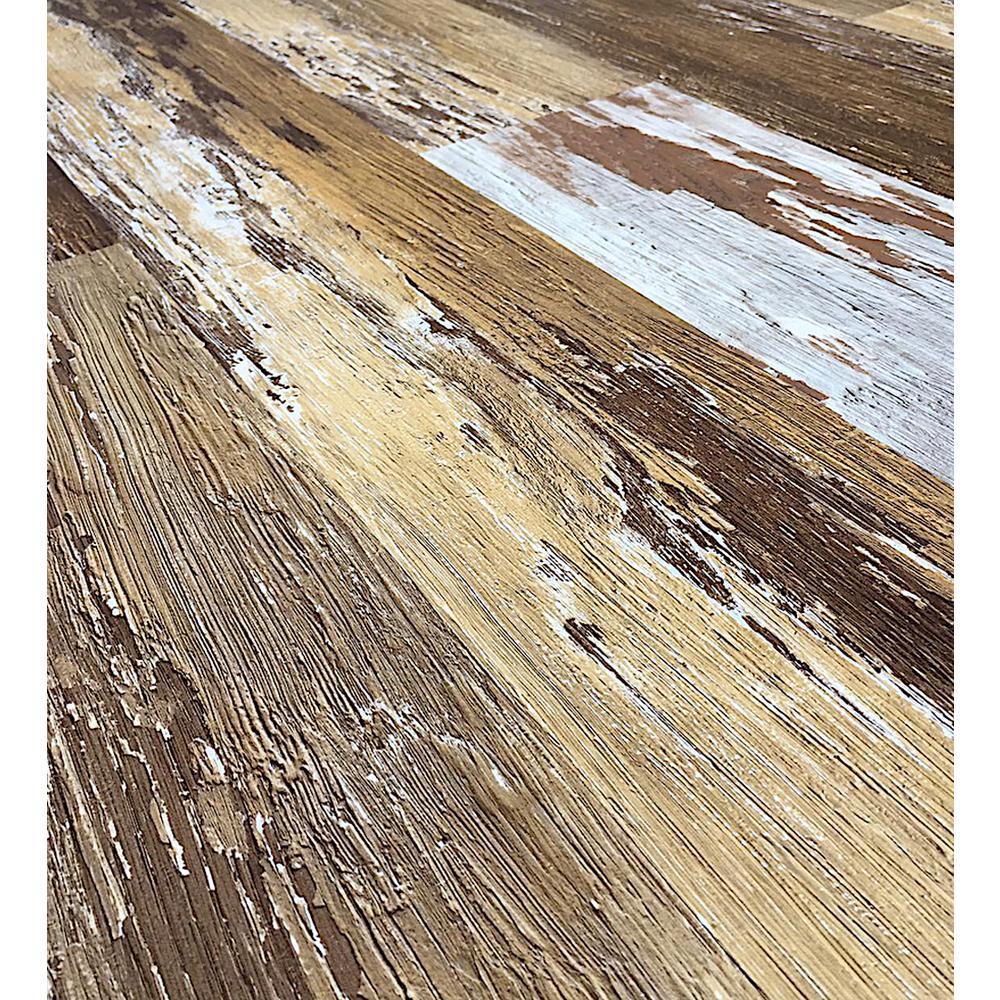 COLORS Floor and Wall DIY Old Brown Wood Aged 6 in. x 36 in. Multi-Tonal Glue Down Luxury Vinyl Plank (30 sq. ft./case)