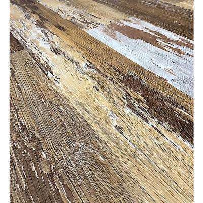 COLORS Floor and Wall DIY Old Brown Wood Aged 6 in. x 36 in. Multi-Tonal Glue Down Luxury Vinyl Plank (30 sq. ft./case)