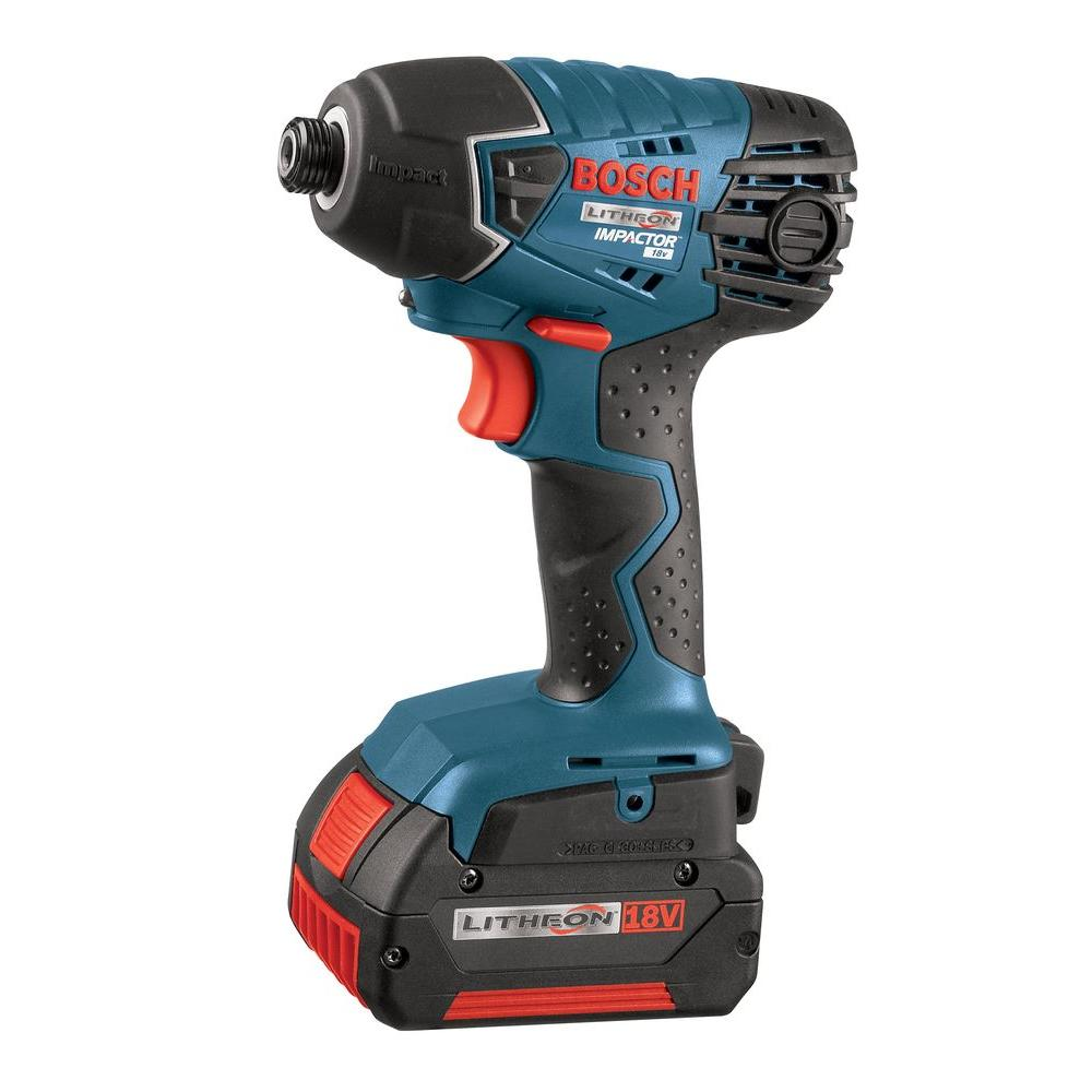 Bosch 18-Volt Lithium-Ion Impact Driver with 2 Fat Pack Batteries and Charger
