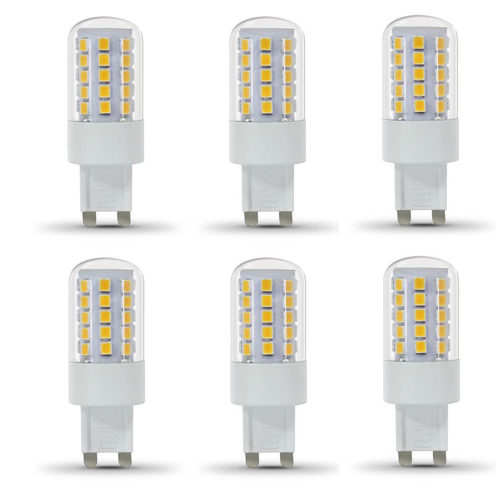 feit electric 40 watt equivalent daylight 5000k g9 bi pin led light bulb 6 pack bpg940 850. Black Bedroom Furniture Sets. Home Design Ideas