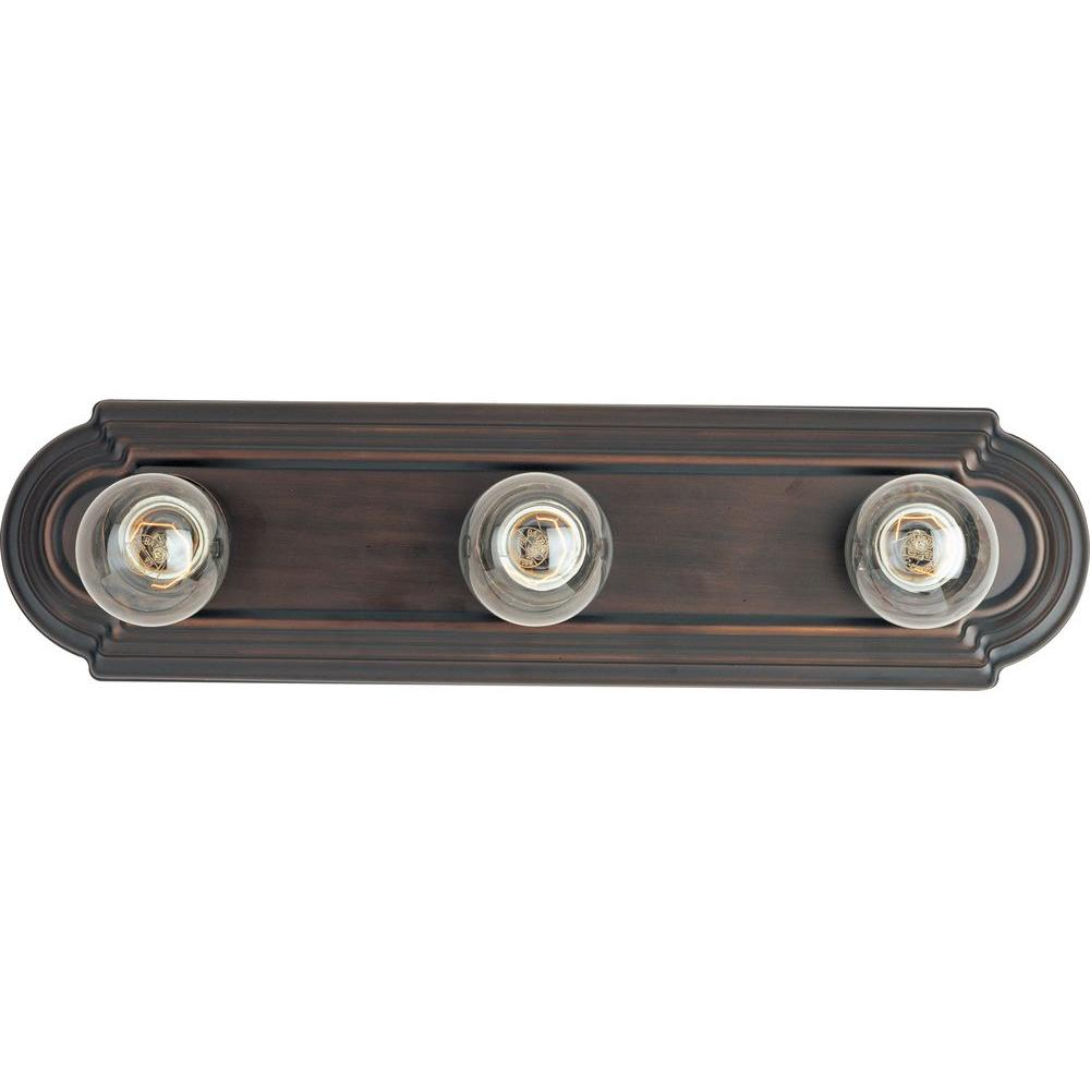 Oriax Infinite 3-Light Bronze Incandescent Bath Vanity -DISCONTINUED