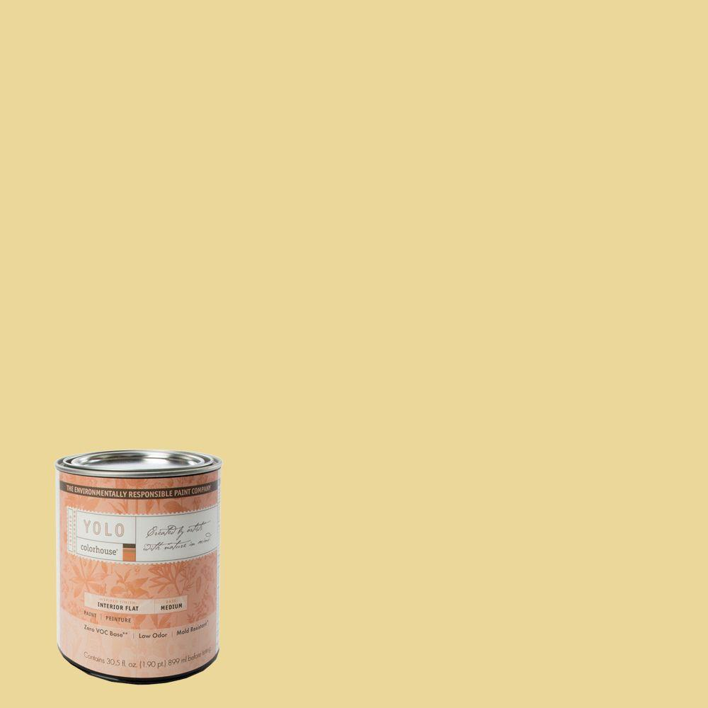 YOLO Colorhouse 1-Qt. Beeswax .01 Flat Interior Paint-DISCONTINUED