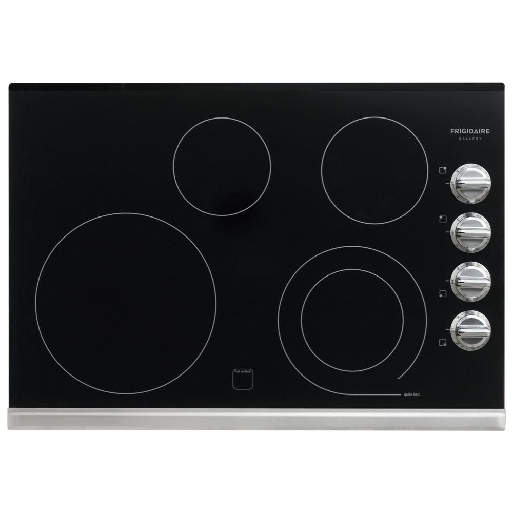 Smooth Electric Cooktop In Stainless Steel With 4 Elements