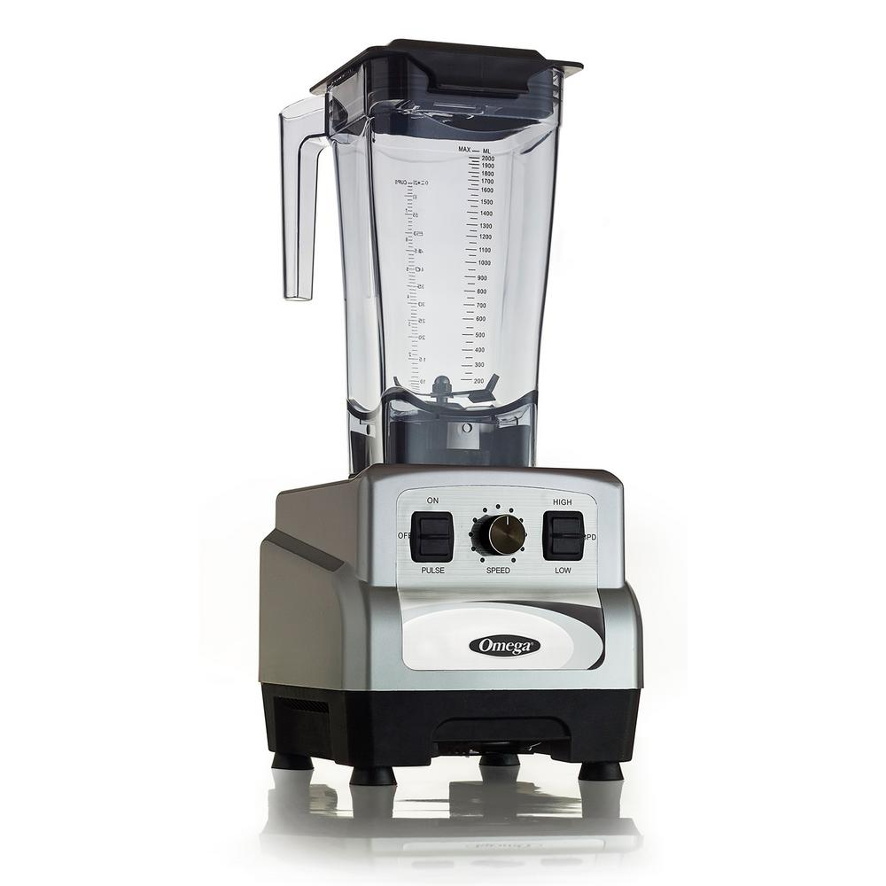 3 HP 64 oz. Variable 10-Speed Silver Blender with Container