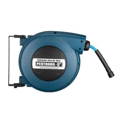 32 ft. Retractable Hose Reel, Blue