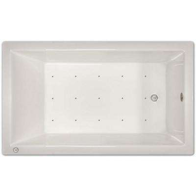 6 ft. Right Drain Drop-In Air Bath Tub in White