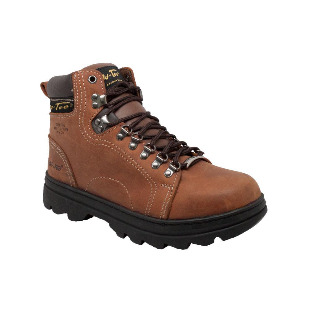 Skechers Men's Workshire ST Crazy Horse Dark Brown Leather 7 M