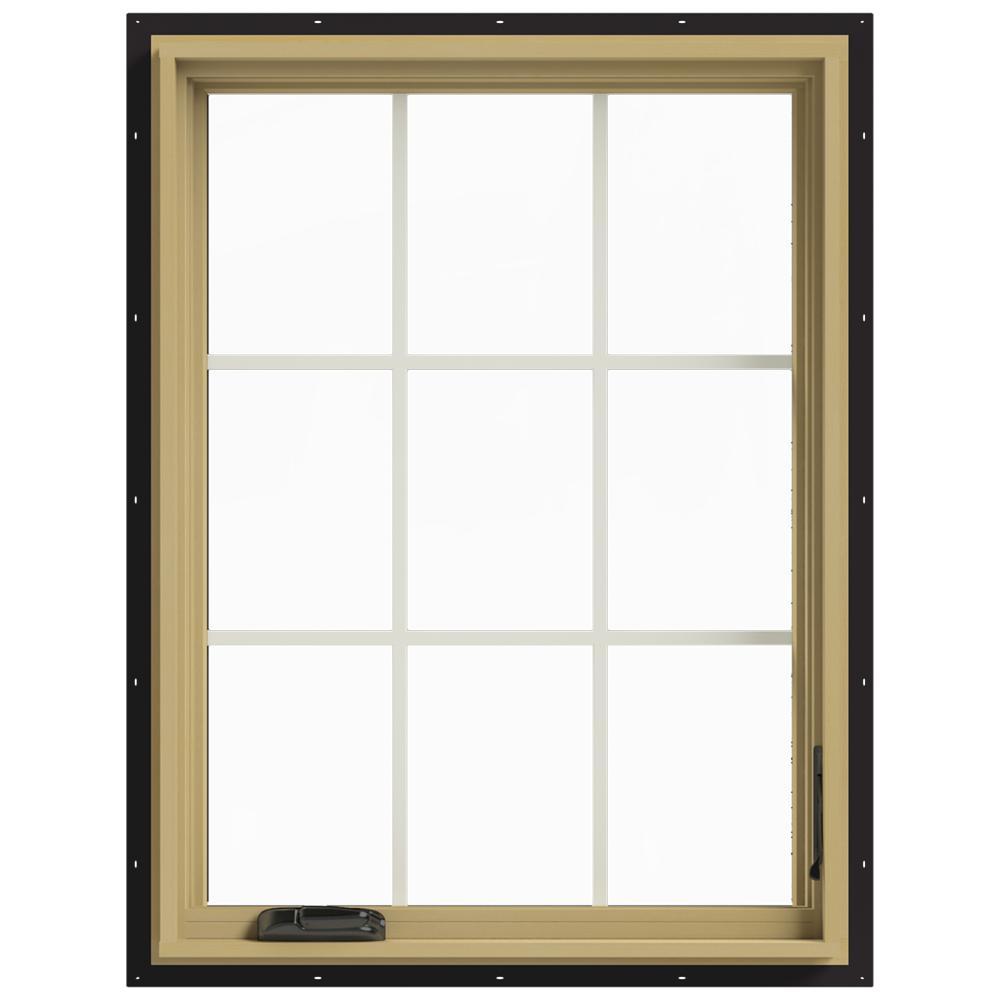 30 in. x 40 in. W-2500 Right-Hand Casement Aluminum Clad Wood Window