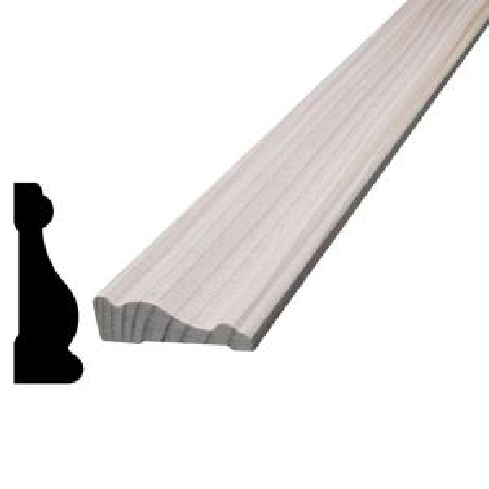 1/2 in. x 1-1/2 in. x 96 in. Hemlock Wood Casing Moulding