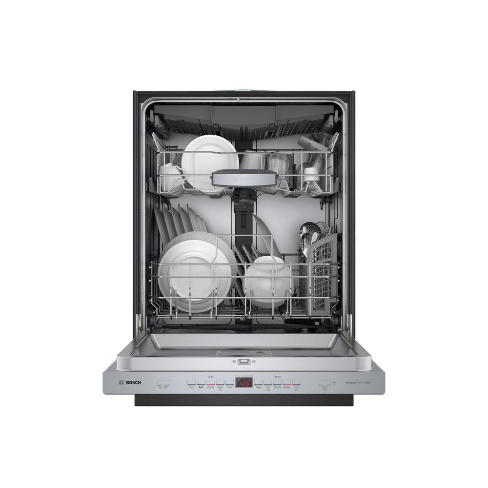 Bosch 500 Series Top Control Tall Tub Pocket Handle Dishwasher in Stainless  Steel with Stainless Steel Tub, AutoAir, 44dBA