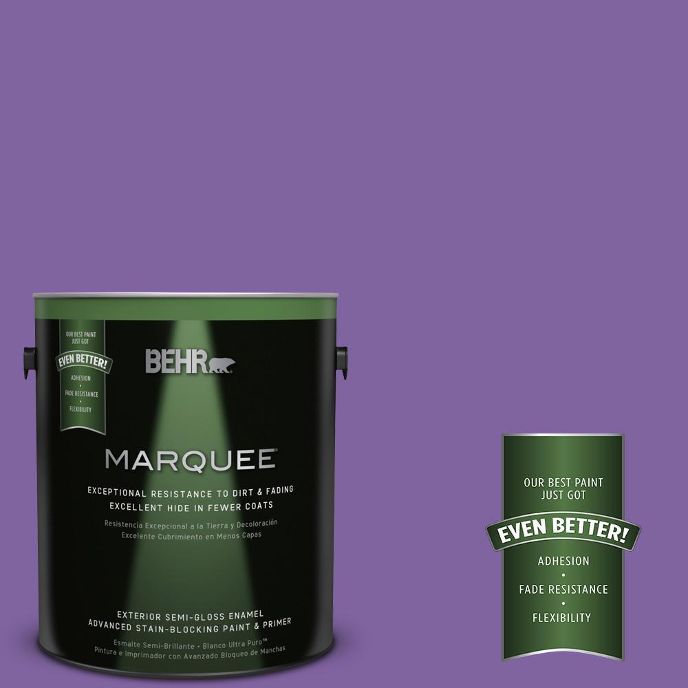 BEHR MARQUEE 1-gal. #PPU16-3 Purple Paradise Semi-Gloss Enamel Exterior Paint