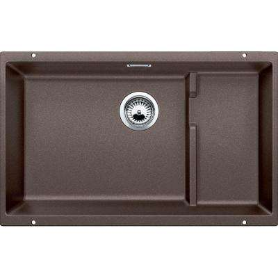 Precis Cascade Undermount Granite Composite 29 in. Single Bowl Kitchen Sink in Cafe Brown