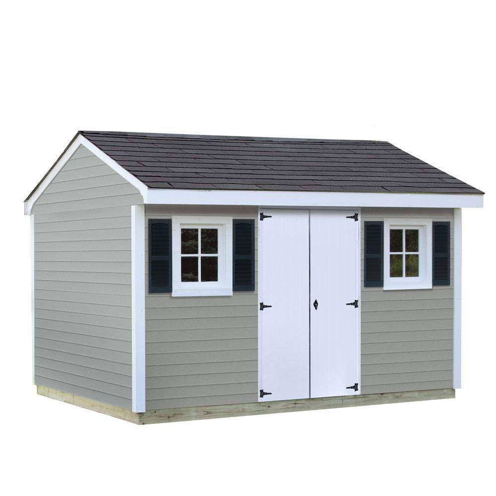sheds usa installed classic 8 ft x 12 ft vinyl shed - Garden Sheds Vinyl