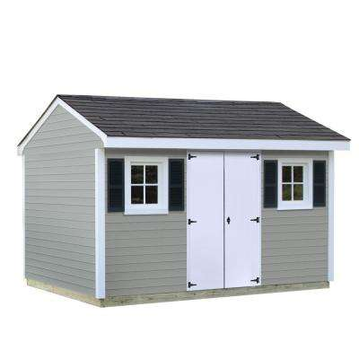 installed classic 8 ft x 12 ft vinyl shed